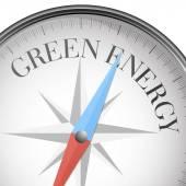 Compass green energy — Stock Vector