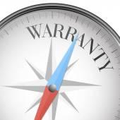 Compass warranty — Stock Vector
