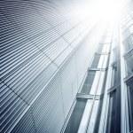 Futuristic skyscraper from below — Stock Photo #53134017