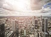 Aerial view of Frankfurt am Main — Stock Photo