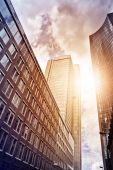 Office buildings in the sun — Stock Photo