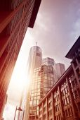 Street in office district — Stock Photo