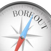 Compass boreout — Stock Vector