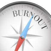 Compass burnout — Stock Vector