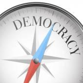 Compass democracy — Stock Vector