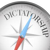 Compass dictatorship — Stock Vector