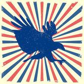 Eagle burst background — Stock Vector