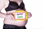Pregnant Sign Family — Stock Photo
