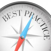 Compass best practice — Stok Vektör