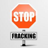 Roadsign Stop Fracking — Stock vektor