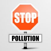 Roadsign Stop Pollution — Stock Vector