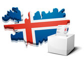 Ballotbox Iceland — Stock Vector