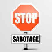 Stop Sabotage — Stock Vector