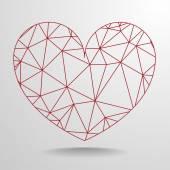 Polygon heart — Stock Vector