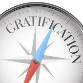 Compass gratification — Stock Vector