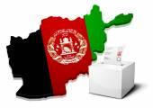 Ballotbox Afghanistan — Stock Vector