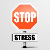 Stop Stress — Stock Vector
