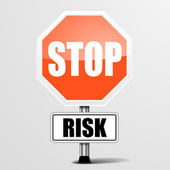 Stop Risk — Vettoriale Stock