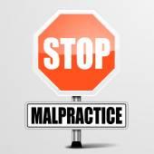 Stop Malpractice — Stock Vector