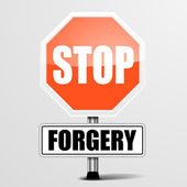 Stop Forgery — Stock Vector