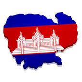Map Cambodia — Stock Vector