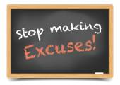Stop Excuses — Stock Vector