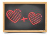 Love hjärtan — Stockvektor