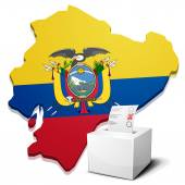 Ballotbox Ecuador — Stock Vector