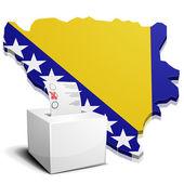 Ballotbox Bosnia Herzegowina — Stock Vector