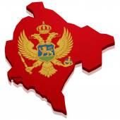 Map Montenegro — Stock Vector