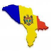Map Moldova — Stock Vector