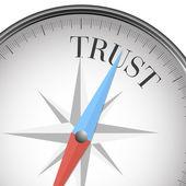 Compass trust — Stock Vector
