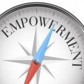 Compass empowerment — Stock Vector