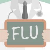 Doctor Flu — Stock Vector