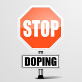 Stop Doping — Stock Vector