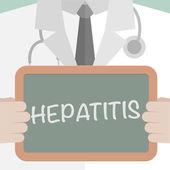 Medical Board Hepatitis — Stock Vector