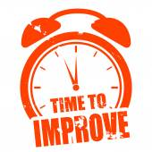 Time to improve — Stock Vector