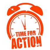 Time for action — Stock Vector