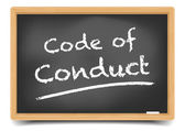 Blackboard Code of Conduct — Stock Vector