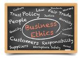 Wordcloud Business Ethics — Stock Vector