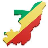 Map Congo — Stock Vector