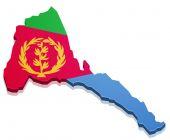 Map Eritrea — Stock Vector
