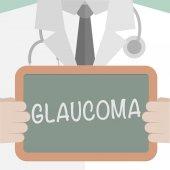 Medical Board Glaucoma — Vetor de Stock
