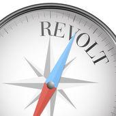 Compass revolt — Stock Vector