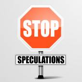 Stop Speculations — Stock Vector