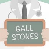 Medical Board Gall Stones — Stock Vector