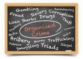 Organized Crime Wordcloud — ストックベクタ