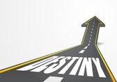Droga do Destiny — Wektor stockowy