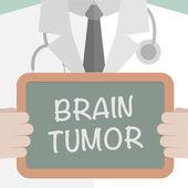 Medical Board Brain Tumor — Stock Vector