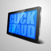 Tablet Click Fraud — Stock Vector